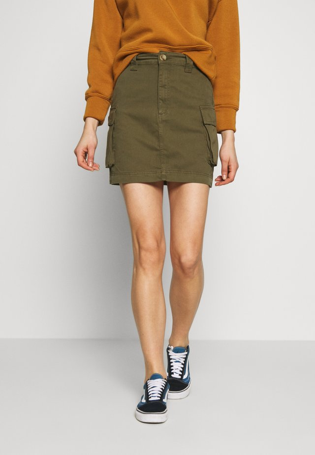 CARGO POCKET SKIRT - Minigonna - khaki
