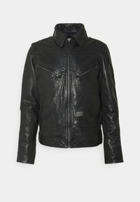 G-Star - AIR FORCE - Leather jacket - black - 0