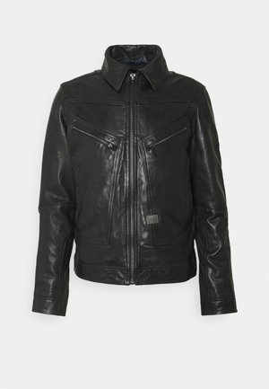 AIR FORCE - Leather jacket - black