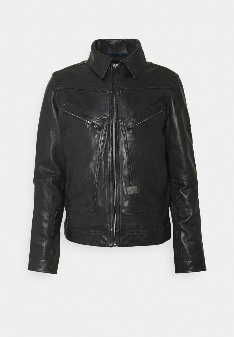 G-Star - AIR FORCE - Leather jacket - black