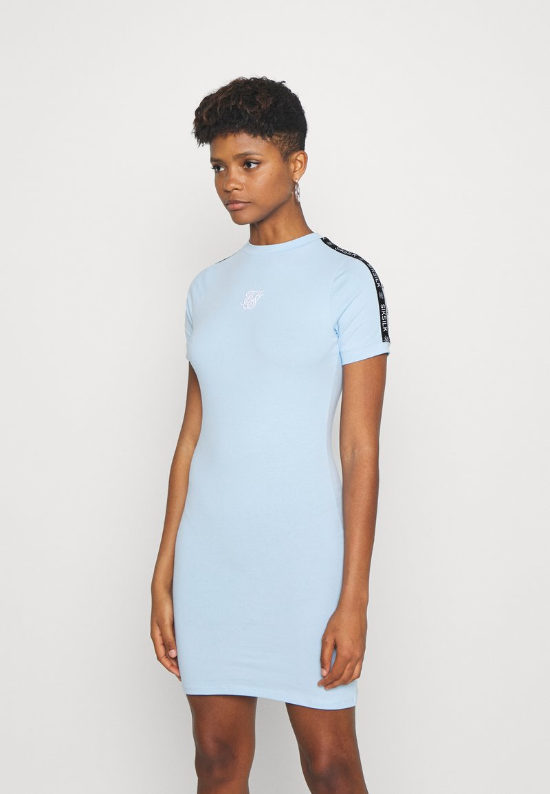 SIKSILK - SKY TAPE BODYCON DRESS - Jersey dress - light blue