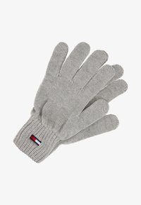 Tommy Jeans - BASIC FLAG GLOVES - Guantes - grey - 0