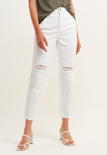 MIT USED DETAILS - Jeans slim fit - white