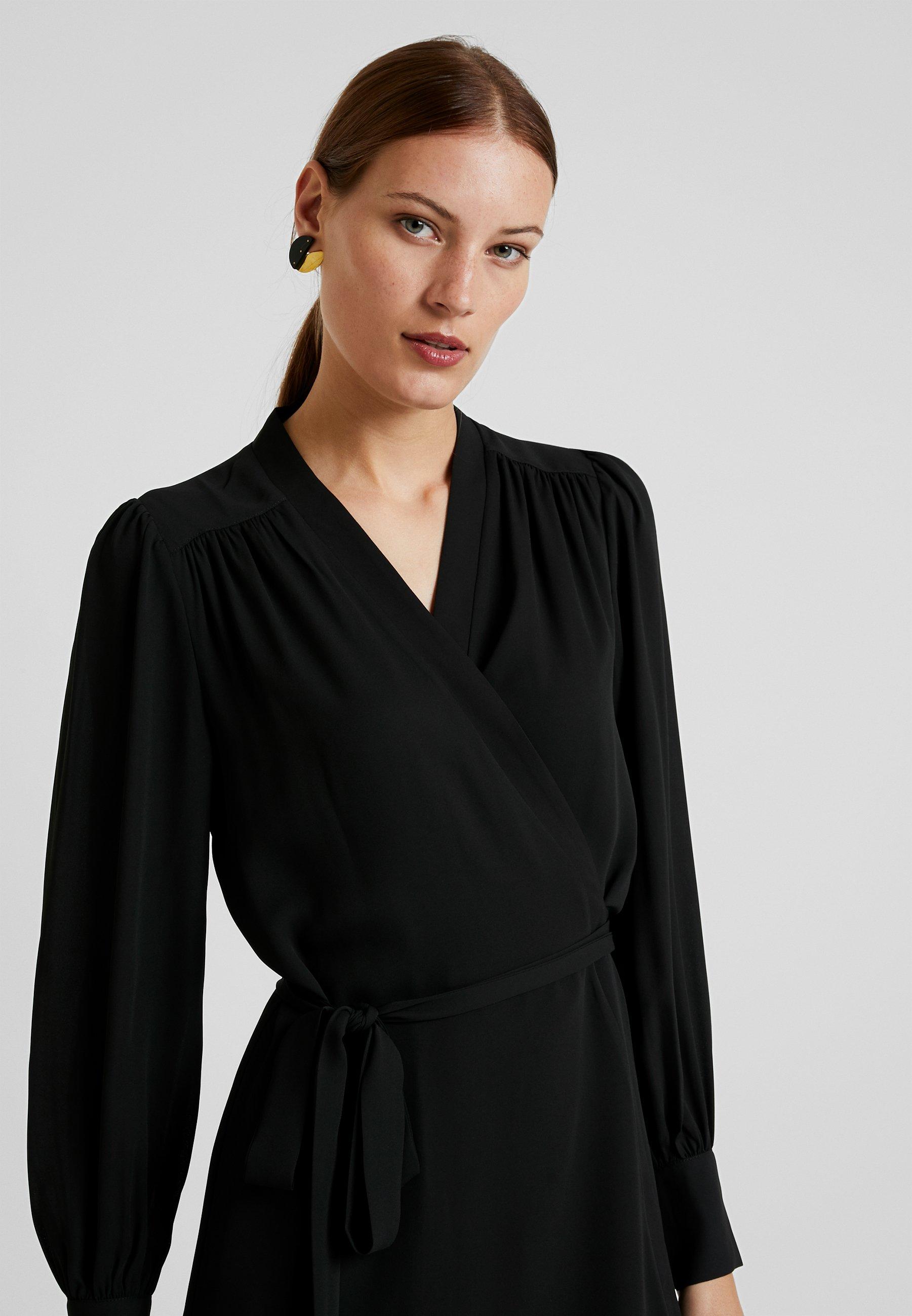 SLFALVA WRAP DRESS Korte jurk black