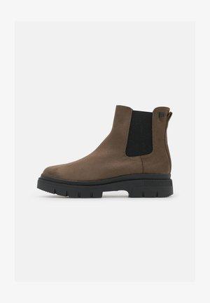 NEW MIRTE - Kotníkové boty na platformě - kaky