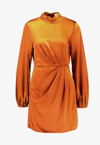 4th & Reckless - LILLIA HIGHNECK MINI DRESS WITH TWIST FRONT - Day dress - ginger - 5