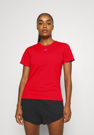 NECESSI TEE - Print T-shirt - vivid red/team real magenta