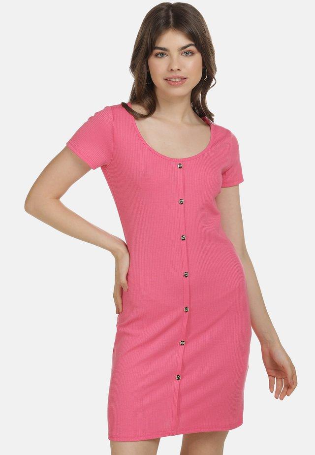 Etui-jurk - neon pink