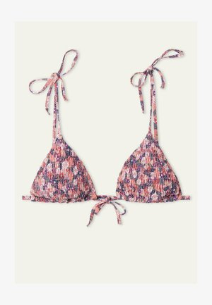 Bikini pezzo sopra - dark nude summer flower