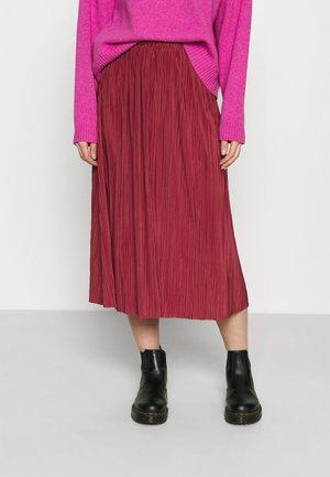 UMA SKIRT - Pleated skirt - dark powder pink