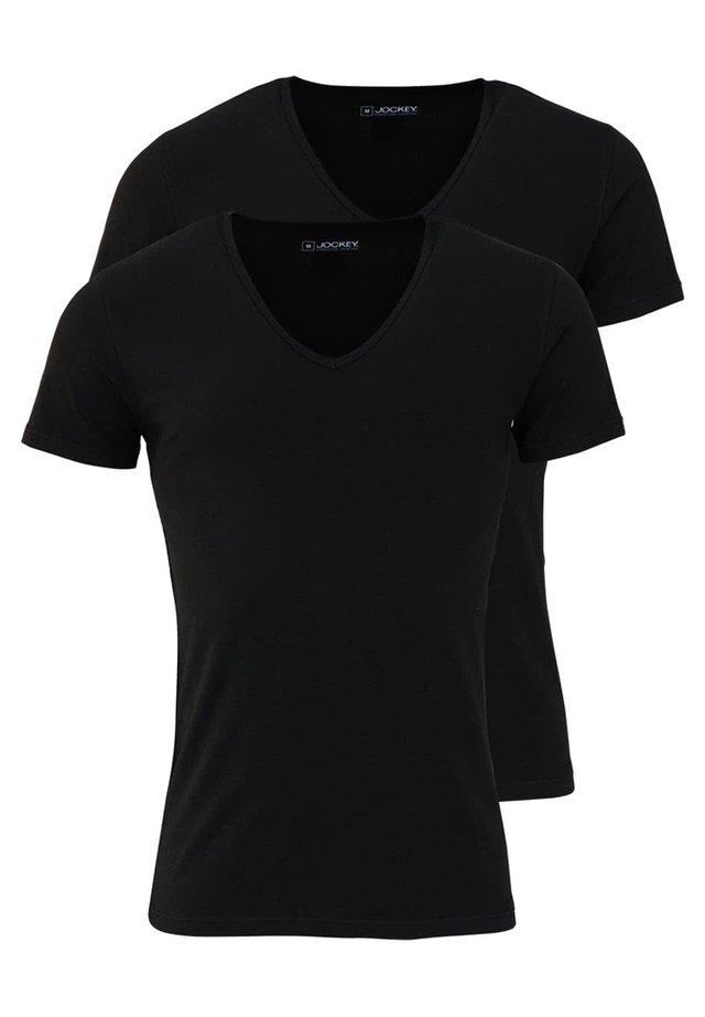 2-PACK - Basic T-shirt - schwarz