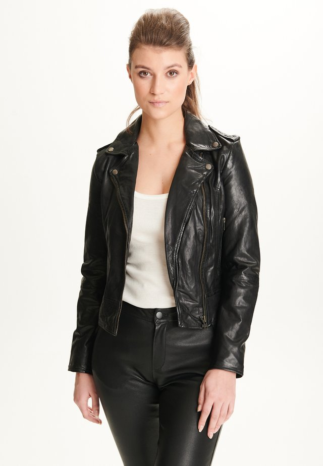 PETRA - Leren jas - black