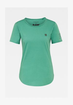 MYSID ROUND OPTIC SLIM SHORT SLEEVE C - Print T-shirt - cosmo green