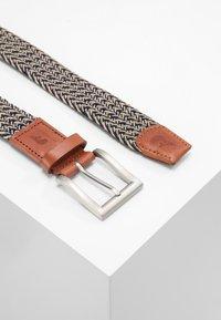 Slopes&Town - Braided belt - blue/cream - 2
