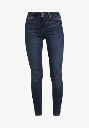 VMSEVEN SLIM TAPERED - Jeansy Skinny Fit - dark blue denim