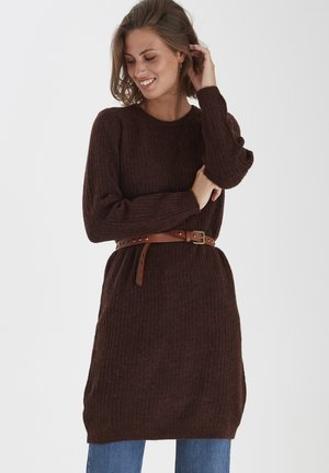 FRMESANDY - Jumper dress - chocolate fondant melange