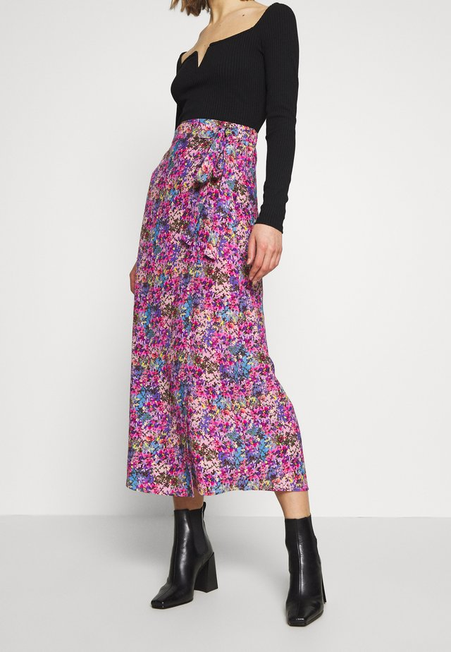 YASELECTRA LONG SKIRT - Wrap skirt - strong blue