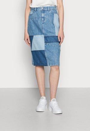 SKIRT - Denim skirt - blue medium wash