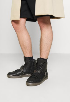 Sneakersy wysokie - black/silver-coloured