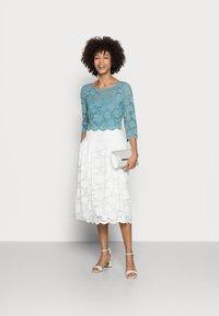 Esprit Collection - LACE SHIRT - Print T-shirt - dark turquoise - 1