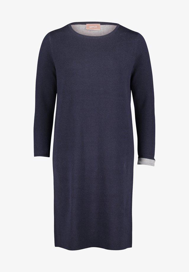 Korte jurk - dunkelblau grau