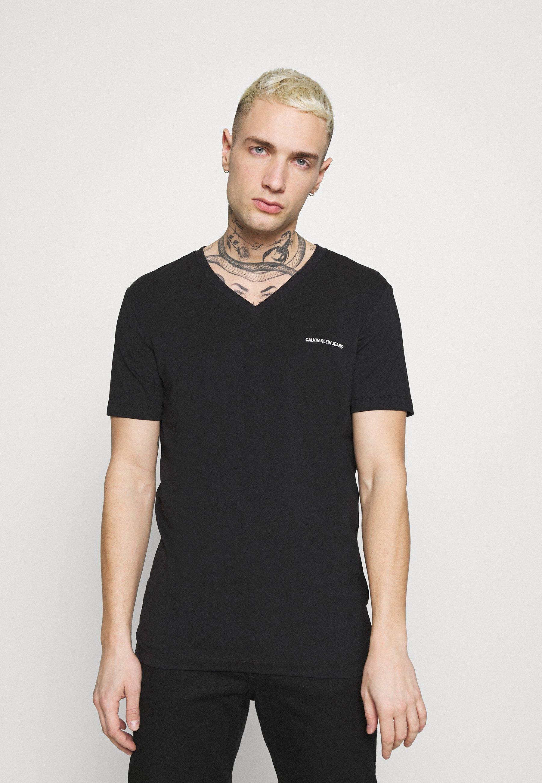 Men V NECK TEE - Print T-shirt