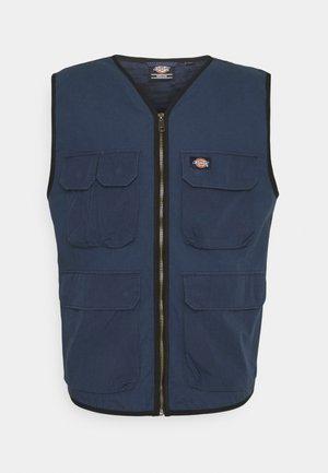 GLYNDON VEST - Waistcoat - navy blue
