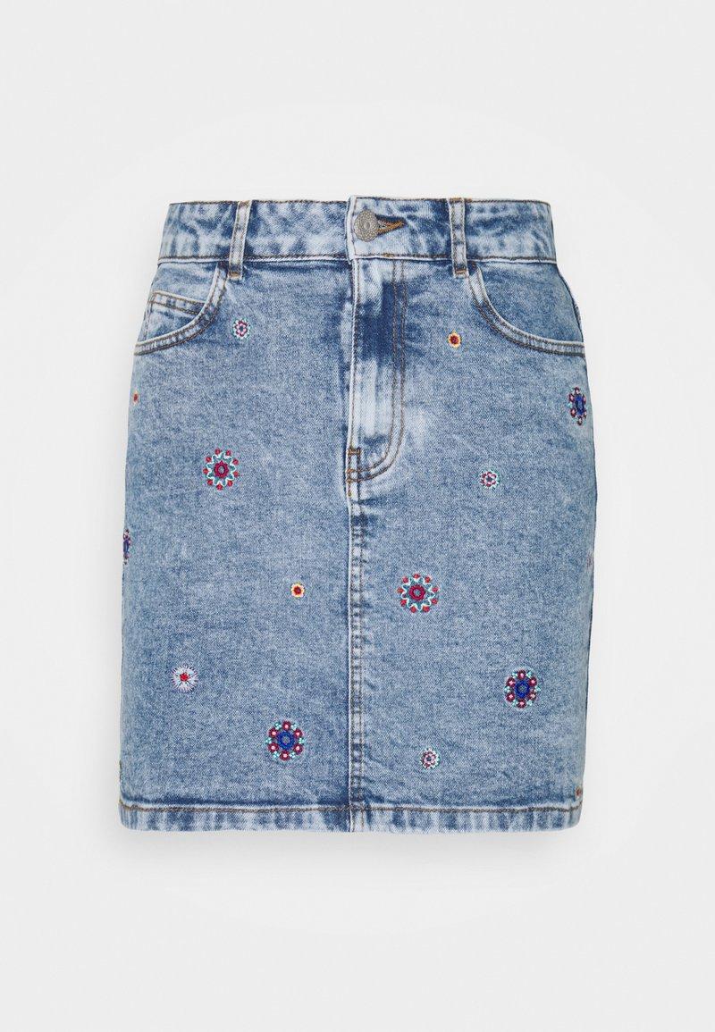 Desigual - LESLIE - Mini skirt - blue