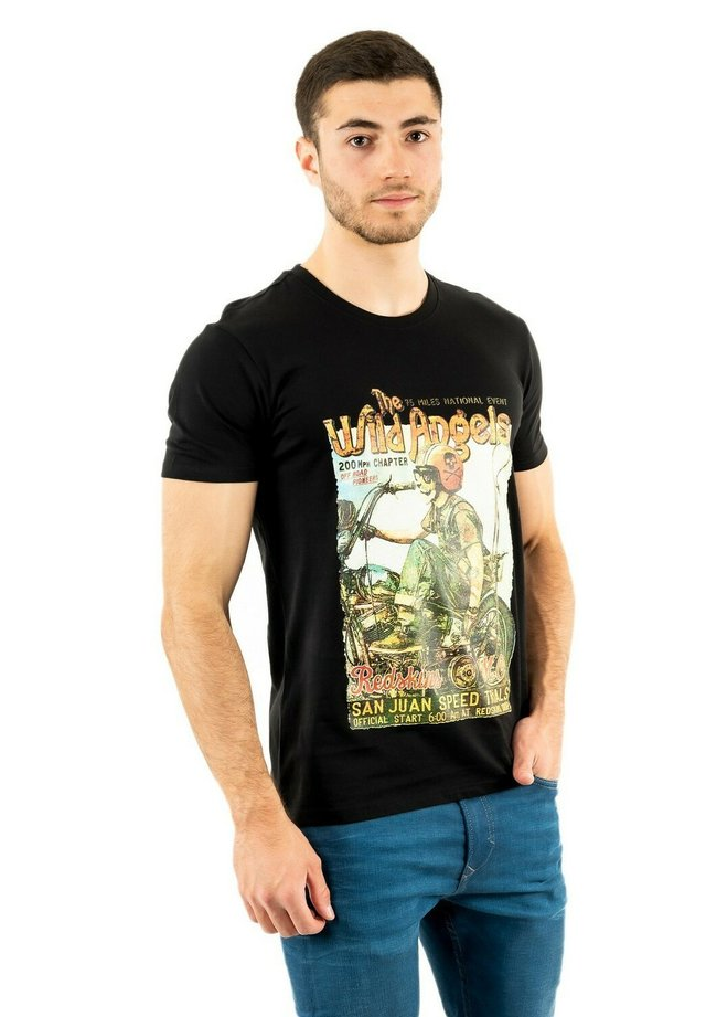 ANGEAS - T-shirt imprimé - black