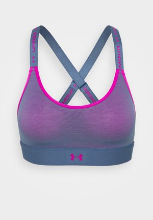 INFINITY MID RUN HOOK - Medium support sports bra - mineral blue