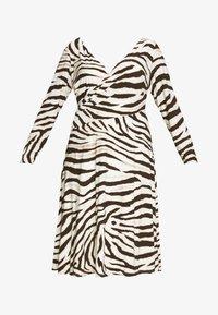 Lauren Ralph Lauren Woman - POLLY DAY DRESS - Jersey dress - cream/brown - 5