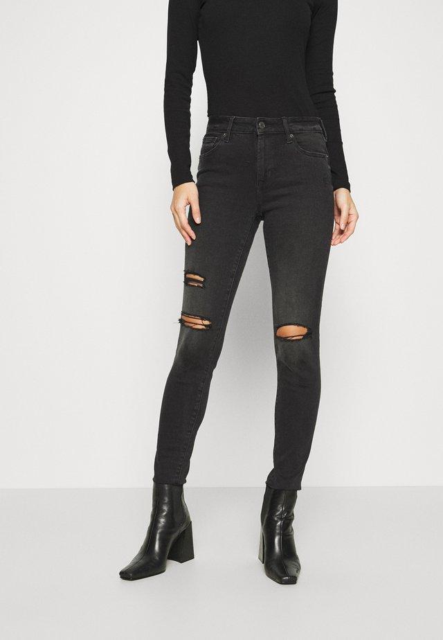 WASHED ELLIS - Skinny džíny - black