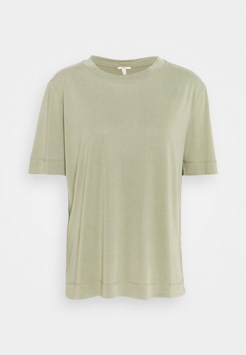 Esprit - TEE - Basic T-shirt - light khaki
