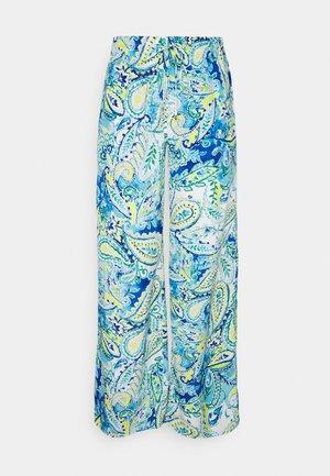 ZIAKASH WIDE LEG PANT - Pantalon classique - blue multi