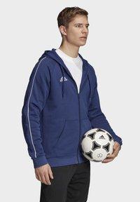 adidas Performance - CORE 19 HOODIE - veste en sweat zippée - blue - 2