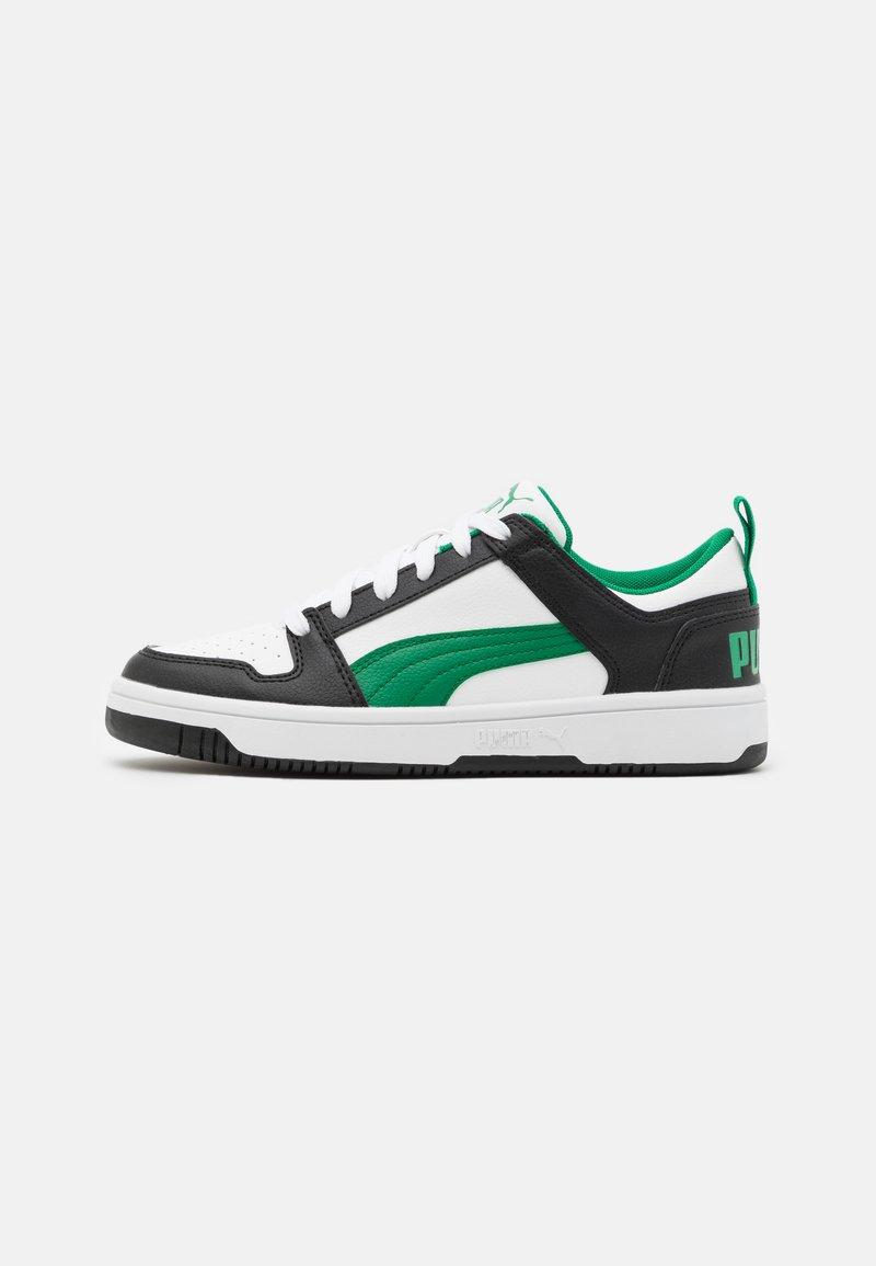 Puma - REBOUND LAYUP UNISEX - Trainers - white/green/black