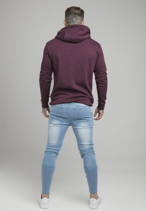 SIKSILK OVERHEAD HOODIE - Bluzka z długim rękawem - burgundy/bordowy Odzież Męska LPOY