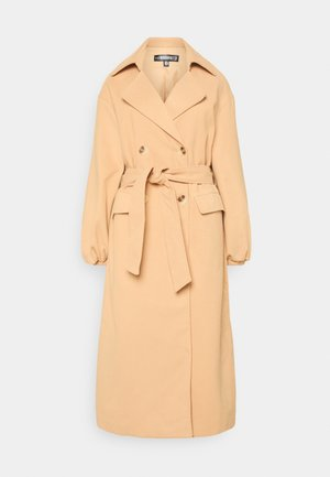 BALLOON SLEEVE FORMAL - Trenchcoat - tan
