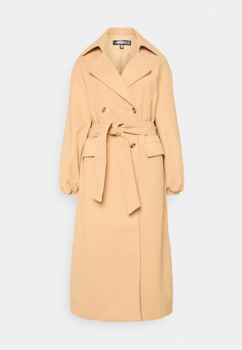Missguided - BALLOON SLEEVE FORMAL - Trenchcoat - tan