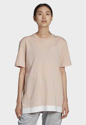 COTTON T-SHIRT - T-shirts med print - beige
