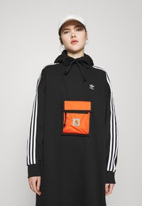 adidas Originals - HOODIE DRESS - Day dress - black - 4