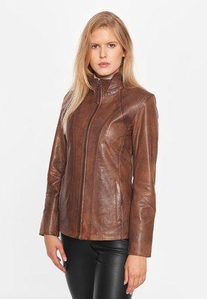 Leren jas - antique brown