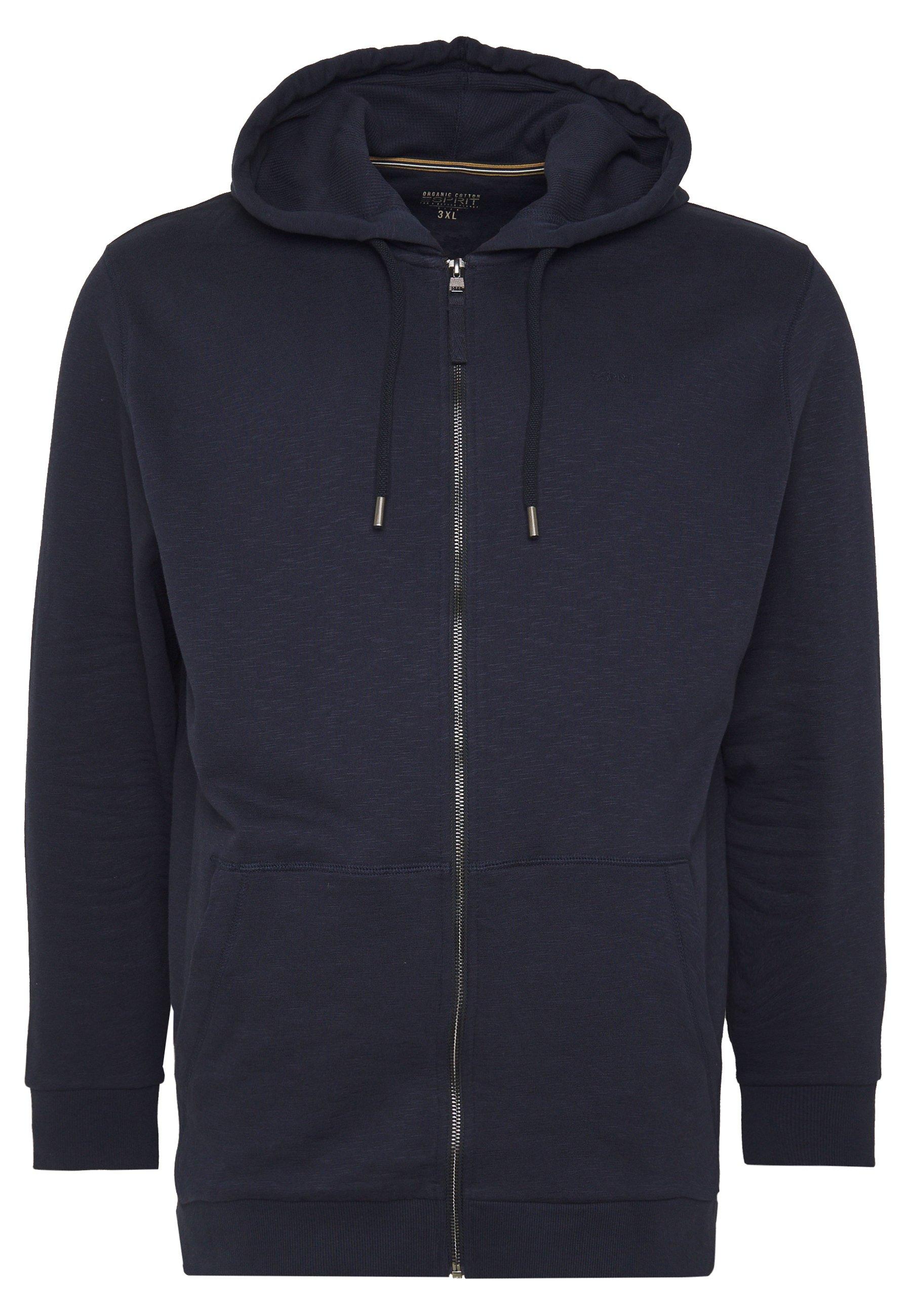 Esprit veste en sweat zippée - navy