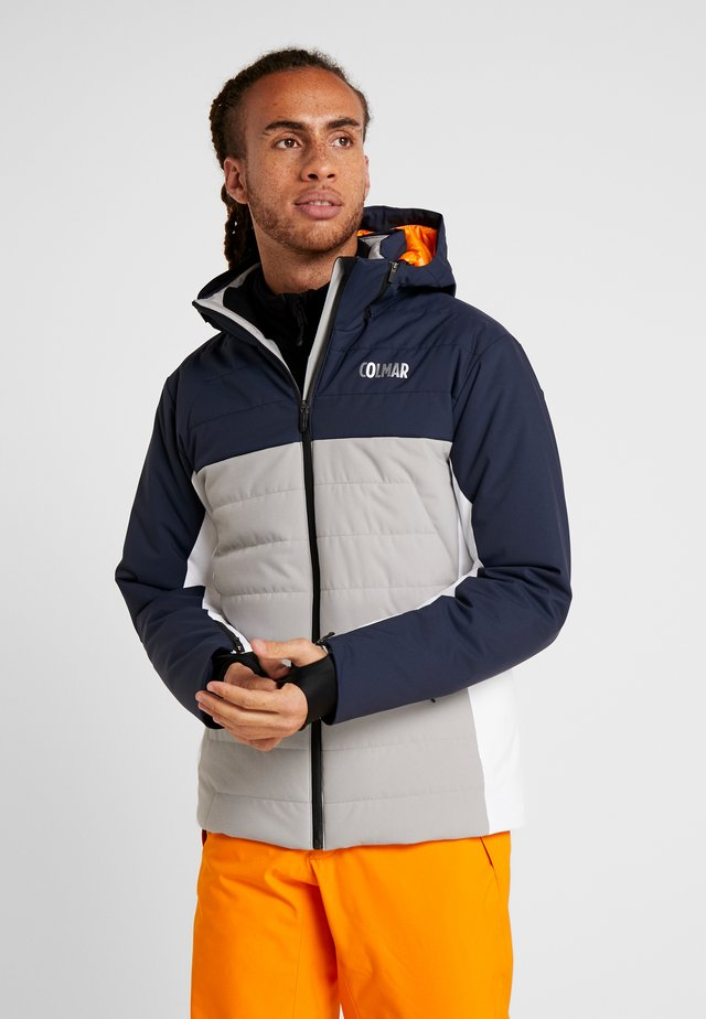 Ski jacket - greystone/blue black/white