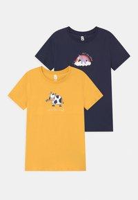Cotton On - PENELOPE 2 PACK - T-shirts print - indigo - 0