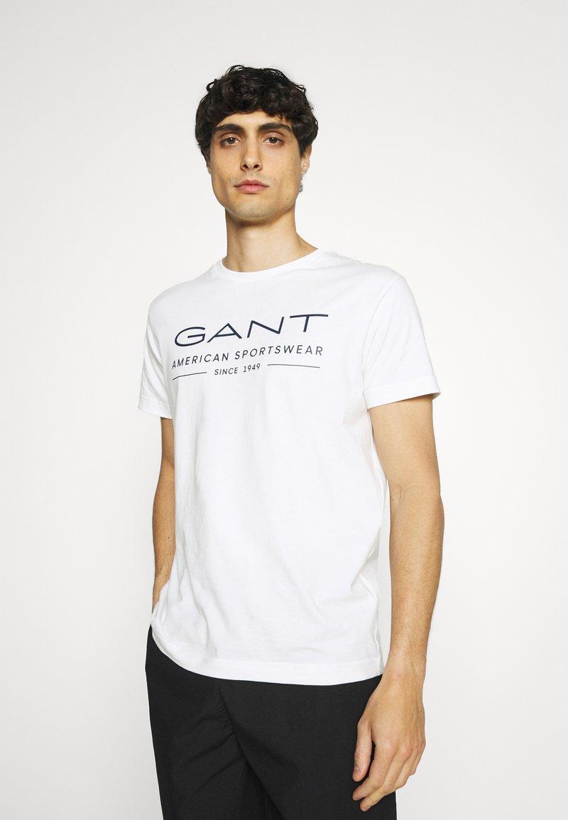 GANT - SUMMER - T-shirt med print - eggshell