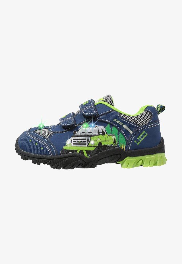 Touch-strap shoes - marine/lemon