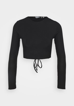OPEN BACK - Long sleeved top - black