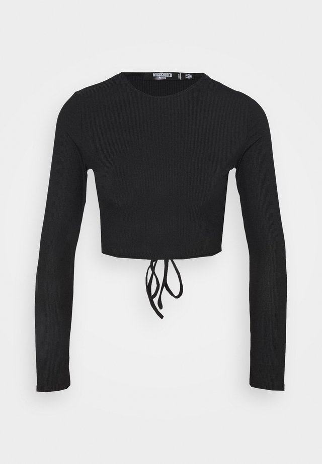 OPEN BACK - Langærmede T-shirts - black