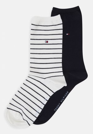 WOMEN SOCK SMALL STRIPE 2 PACK - Socks - off-white